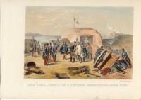 Francesco II di Borbone visita le devastate batterie della piazzaforte di Gaeta, ultima capitale del suo regno (gennaio 1861).