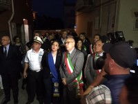 La fiaccolata a Formia  dopo l'omicidio dell'avvocato di Mario Picolino